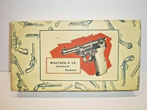 """Vintage 1950's CONSTRUCTO """" WALTHER P-38 AUTOMATIC"""" 1:1 SCALE WOOD MODEL KIT"""