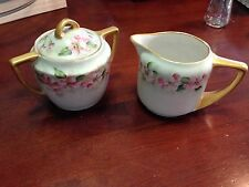 "Rosenthal Selb Bavaria Germany Sugar Bowl & Creamer Set""Donatello"" HandPainted"