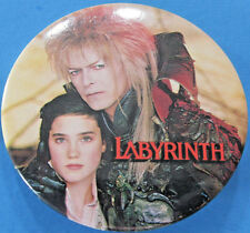 Button '86 vtg Labyrinth movie promotion David Bowie Jennifer Connelly Hensen