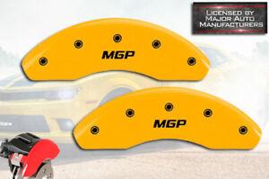 "2015-2018 Ram ProMaster City Front Yellow ""MGP"" Brake Disc Caliper Covers 2pc"
