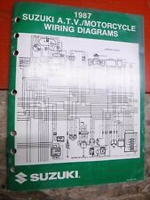1987 Suzuki Atv & Motorcycle Original Factory Wiring Diagrams Manual Service