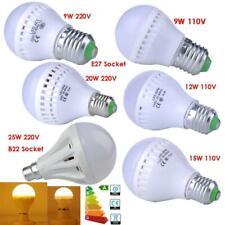 E27 B22 Bayonet LED Bulb Lamp Light 9W 12W 15W 20W 25W Golf Ball Blub Warm White