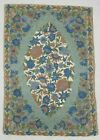 Vintage Hand Made Traditional Kashmiri Beige Blue Wool Rug Carpet 89x62cm