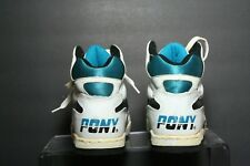 Pony M-42 VTG OG Basketball Sneaker Multi Black White Teal Men 8 Athletic Hip