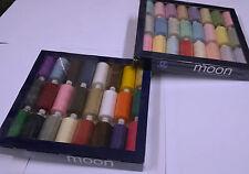 Coats MOON ASSORTITI thread, colori popolari 1000 iarde POLIESTERE + GRATIS aghi
