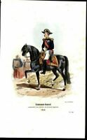 Lieutenant General Imperial Guard 1858 antique engraved military color print
