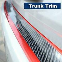 5CM 1M Car Sticker Carbon Fiber Red Rubber Door Sill Guard Strip Edge Prote A7S8