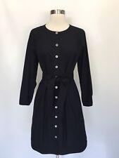 New JCREW Long-Sleeve Shirtdress shirt dress Black Sz XL H7680 $98