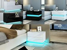 Nightstand Modern Chest of Drawers Bedside Table Cabinet Nightstand RGB LED