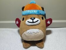 """Vancouver 2010 Olympic Mascot Plush Muk Muk With Red Mittens - 9.5"""" *Tags On*"""