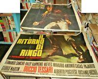 IL RITORNO DI RINGO manifesto 4F orig. 1965 TESSARI GEMMA SANCHO