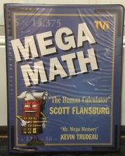 Mega Math Cassettes Video Workbook Scott Flansburg Human Calculator NOS Mint