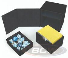 BCW Commander LX Deck Locker - Black - Premium Storage Box - Gaming