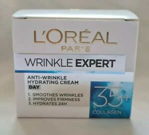 L'Oreal Paris Wrinkle Expert 35+ Anti-Wrinkle Hydrating Collagen Cream Day NEW