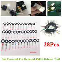 Wiring Connector Extractor Car Terminal Pin Removal Puller Release Tool 38Pcs