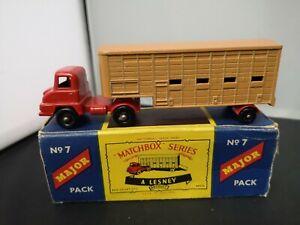 T187-MATCHBOX MAJOR PACK No7 JENNINGS CATTLE TRUCK  WITH ORIGINAL BOX