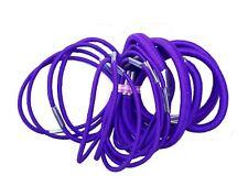 18 Purple Thick And Thin Hair Elastics Hair Bands Bobbles School Colours