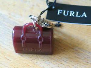 Furla Minature Candy Bag Rubber keyring / Bag charm in Mirto colour