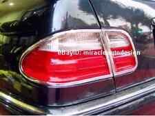 4 PCS Chrome Tail Light Trim Surrounds For 2000-2002 Mercedes Benz W210 E-Class