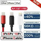 3/6/10Ft For iPhone 6 7 8 Plus iPhone X XR 11 12 Pro Max Charger USB Cable Cord