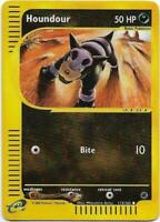 POKEMON HOUNDOUR 113/165 COMUNE REVERSE HOLO EXPEDITION THE REAL_DEAL SHOP