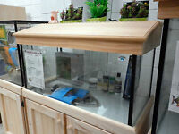 "3'x18""x18"" Glass Aquarium Fish Tank Cabinet Hood"