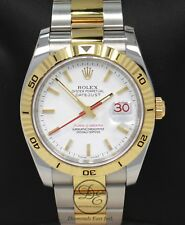 Rolex Datejust 116263 Turn-O-Graph White Dial SS/ 18K Yellow Gold B/PAPERS *MINT