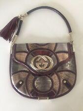 Authentic Gucci 85th Anniversary Snakeskin Lizard Shoulder Handbag Gold Hardware