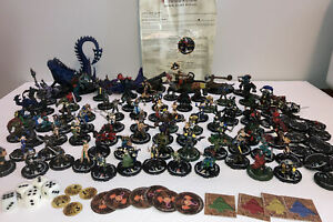 Lot of Mage Knight Figures and game pieces- 79+  Figures