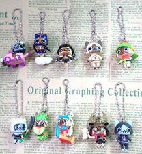 3 Set / 30 Pcs lot Free shipping cartoon cat mixed Mobile Phone straps charms