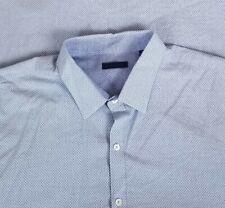 Zachary Prell Men's Long Sleeved Button Up Shirt Sz XXL Light Blue Geometric