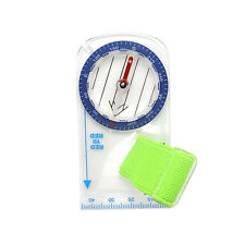 Outdoor Portable Mini Thumb Compass with Map Scale for Orienteering Hiking