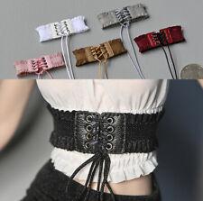 Customized 1//6 Female Black Leather Bondage Straps Belt Clothes Fit 12/'/' Figure
