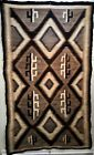 LARGE HISTORIC NAVAJO TWO GREY HILLS RUG, STYLIZED CACTUS DESIGNS, C1910, NR!