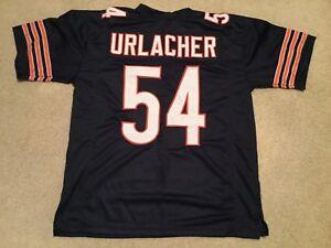 UNSIGNED CUSTOM Sewn Stitched Brian Urlacher Blue Jersey - M, L, XL, 2XL, 3XL