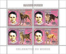 Marie Curie Sklodowska cats dogs Nobel Congo DR m/s Yvert 1737-40 MNH #CDR0630