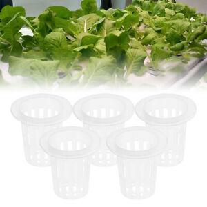 100pcs Vegetable Seedling Basket Plastic Net Cup Soilless Cultivation Mesh Pot