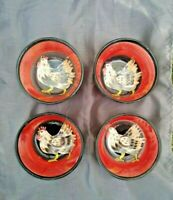 Vintage UPTOWN ROOSTER Tabletops Limited SET of 4 Cereal Soup Bowls 6/6 ❤️ ts17j