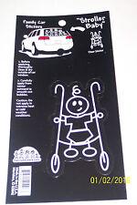 "Family Car Sticker 3 1/2"" Vinyl Auto Decal Stroller Baby"
