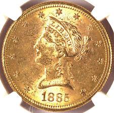 1885-S $10 MS62 PCGS/CAC-LIBERTY HEAD