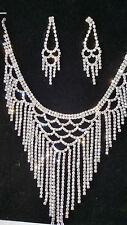 Diamante set - Diamante Necklace & earrings set wedding prom set 34