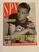 SPY Magazine-March 1992, James Dean Cover, Arnold Schwarzenegger nude