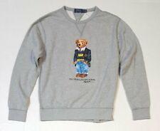 Polo Ralph Lauren Men's Grey Teddy Bear Sweatshirt - Pullover Size M