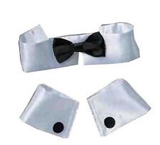 Collar Tie and Cuff Set Stripper Playboy Bunny Chippendales Costume FNT