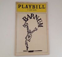 Playbill Barnum St James Theatre 1981 Jim Dale Theater NYC