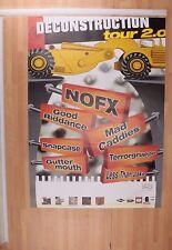 [MM 0015-A]  POSTER CONCERTO DECONSTRUCTION TOUR 2.0 NOFX