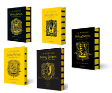 NEW Harry Potter Hufflepuff Edition 5 Hardcover Books Set - Philosopher, Chamber