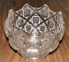 Vintage Westmoreland Glass Old Quilt Pattern Rose Bowl.