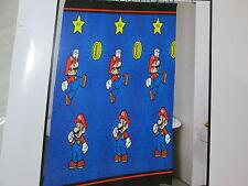 New Super Mario Fabric Shower Curtain 70x72 - Blue, Red & Yellow Nip