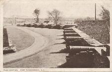 Fort Ticonderoga NY * Flag Bastion & Cannon  1935